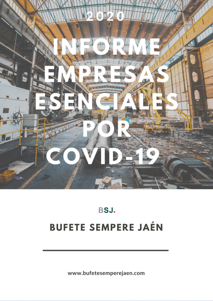 Informe NSj actividades ensenciales por Covid-19