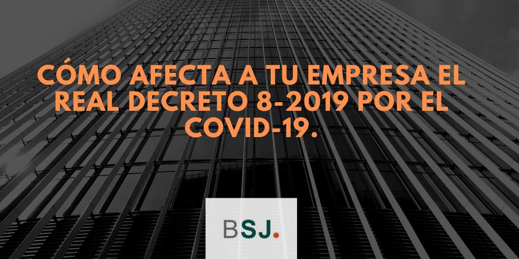 Medidas especiales para las Empresas por el impacto del Covid-19