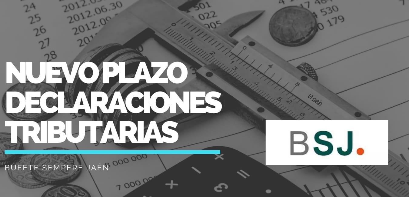 Aplazamientos tributarios según Bufete Sempere Jaén