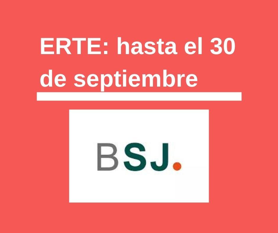 ERTE: nueva prórroga hasta el mes de septiembre